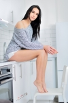 Beautiful Ewa in kitchenette