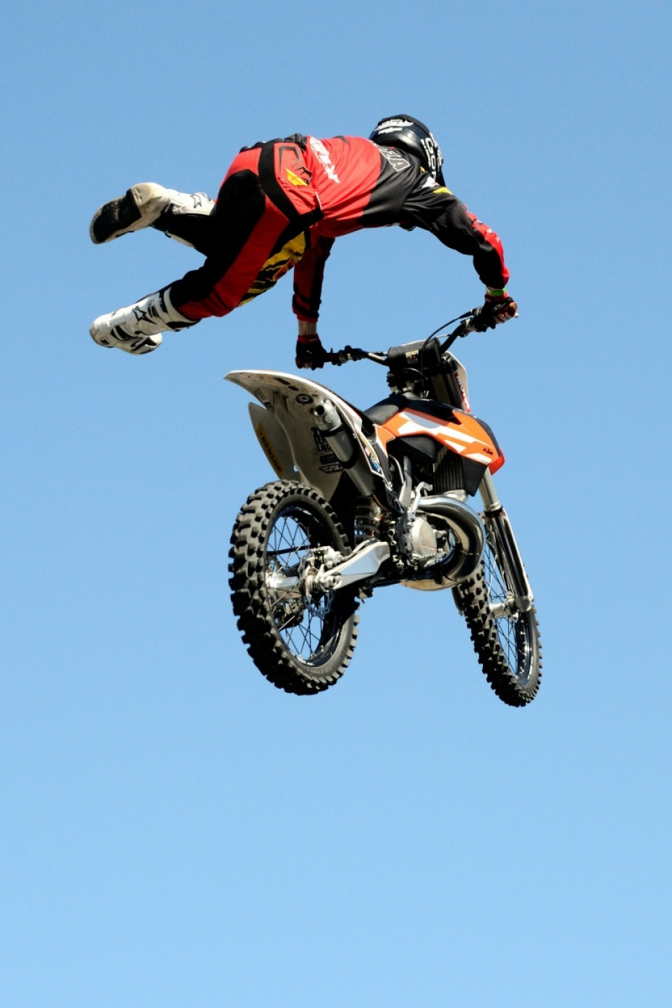 Motorbike in the air